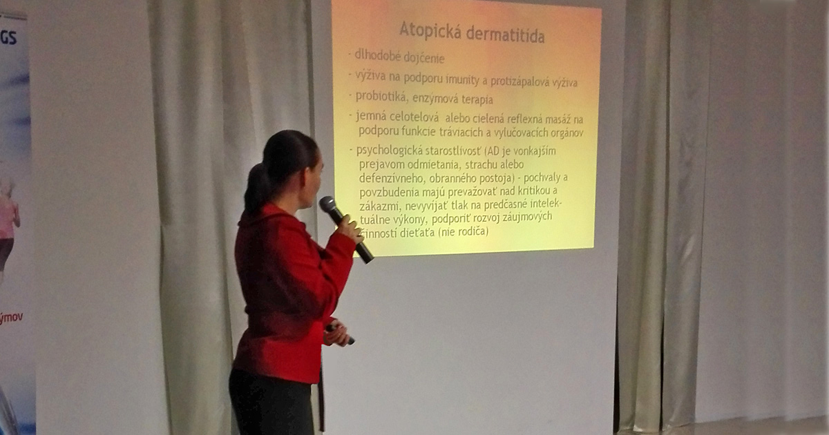 konferencia prednáška na tému atopická dermatitída